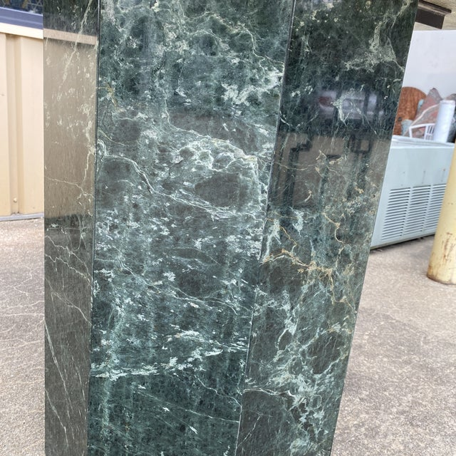 1950s 1950s Italian Green Marble Table For Sale - Image 5 of 6