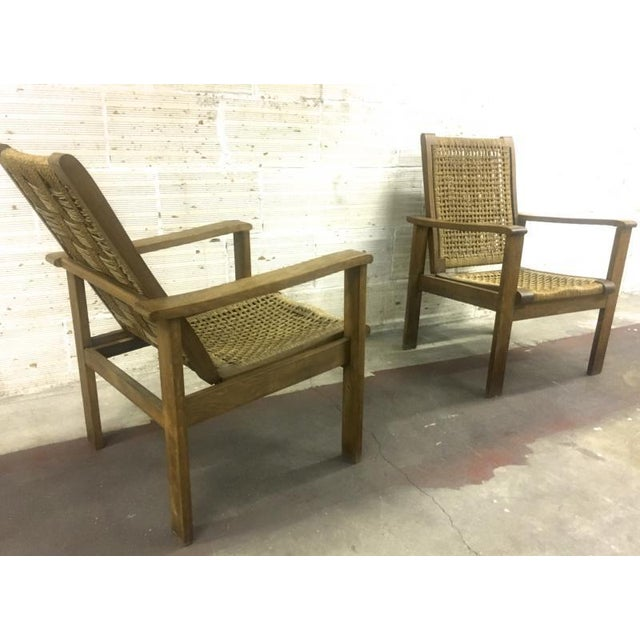 White French Riviera Style Pair of Reclining Rope Lounge Chair For Sale - Image 8 of 8