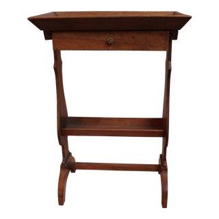 Antique Olive Wood Work Side Table For Sale