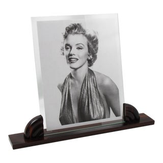 Large Art Deco Macassar Wood Picture Frame For Sale