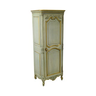 Karges French Louis XV Style Painted Narrow Lingerie Cabinet