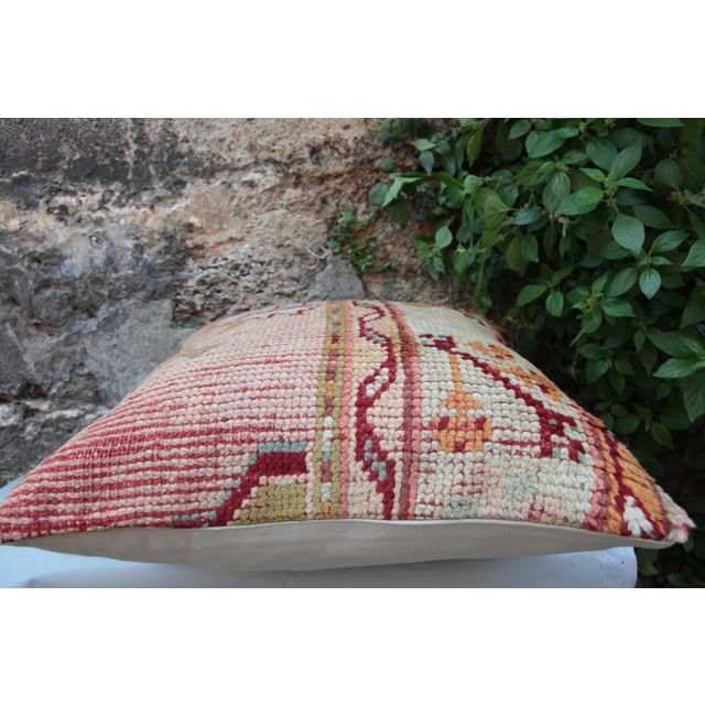 Vintage Turkish Oushak Pillow For Sale In Baltimore - Image 6 of 9