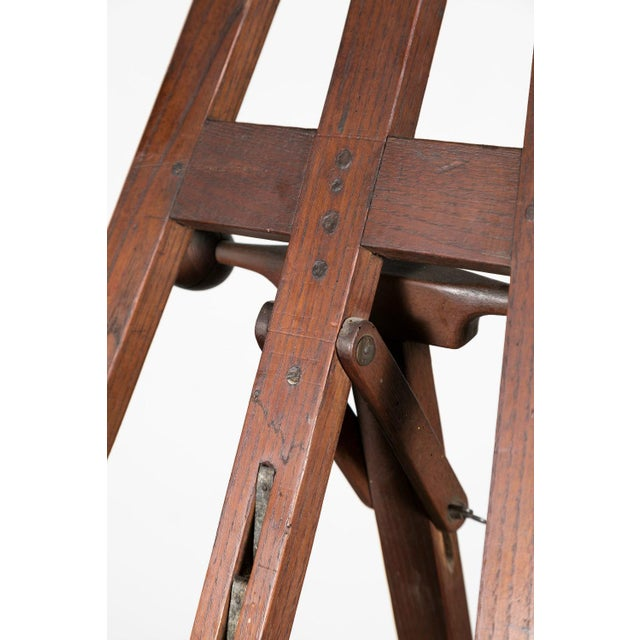 French 20th Century French Adjustable Oak Painters Easel For Sale - Image 3 of 10