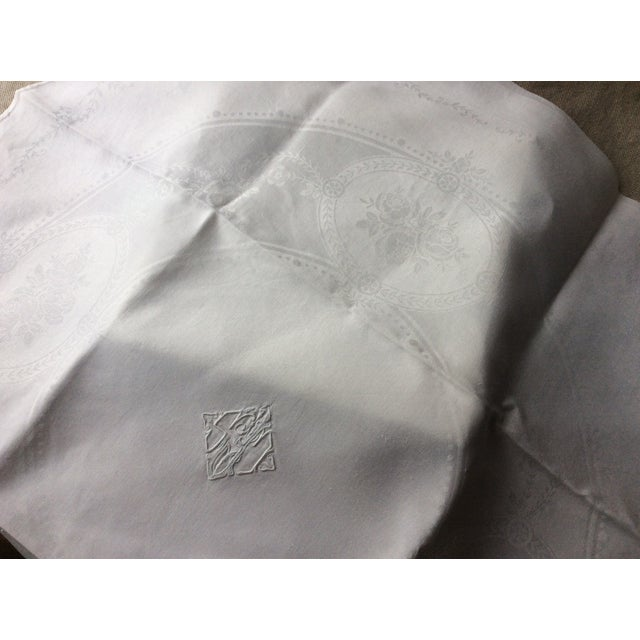 1900 - 1909 1900s French Linen Napkins - Set of 10 For Sale - Image 5 of 13