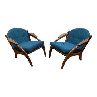 Adrian Pearsall Style Sculptural Lounge Chairs - a Pair For Sale