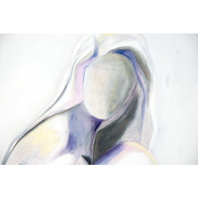 Abstract Lilac Lady -Modern Nude Abstract Painting by Emily Powell For Sale - Image 3 of 4