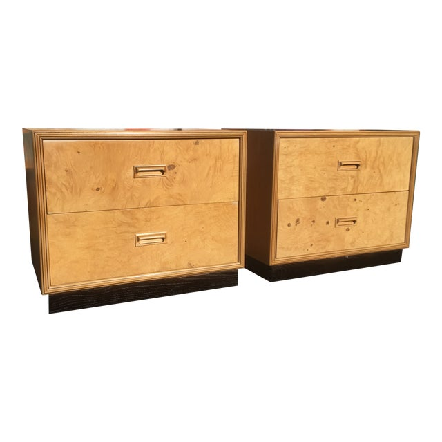 Burlwood Nightstands by Henredon-a Pair For Sale