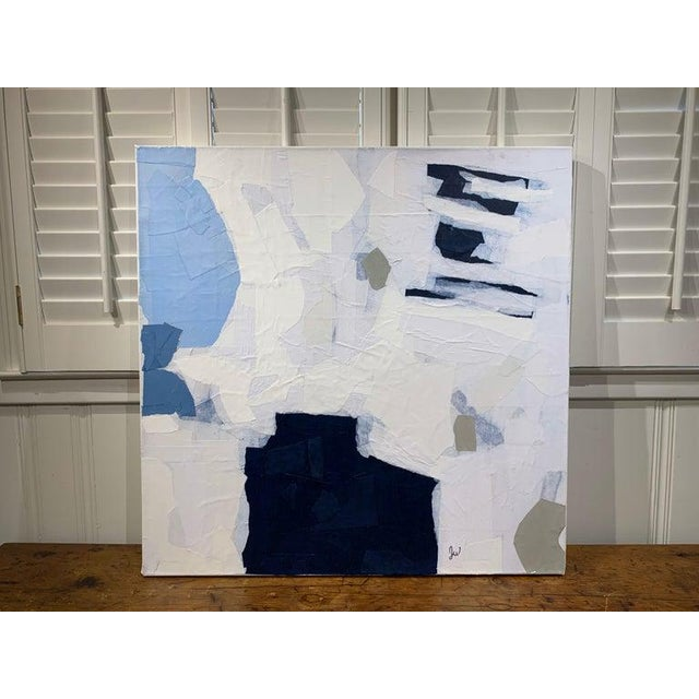 """Contemporary """"Ruminating"""" Contemporary Collage Abstract on Canvas by Judith Williams For Sale - Image 3 of 8"""