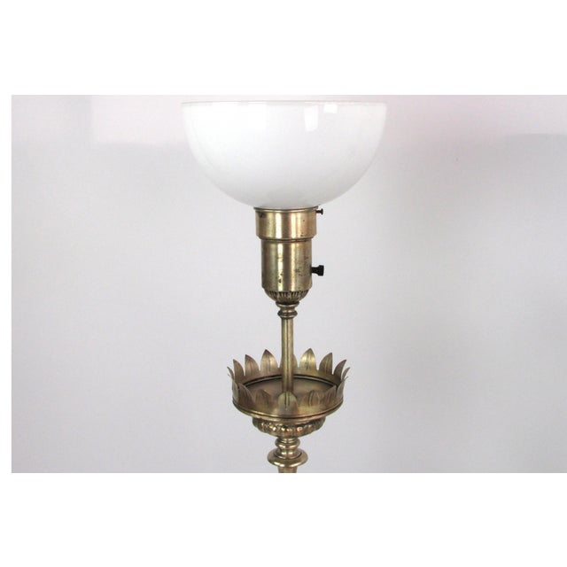 Ornate Hammered Tin Lamps - A Pair - Image 7 of 7