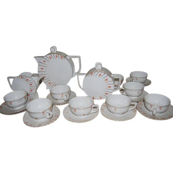 Deco Tea Set from Czechoslovakia - Image 1 of 6