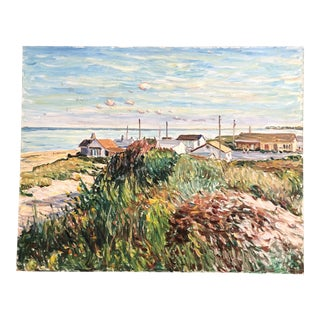 """Original Contemporary Impressionist Painting """"On the Dunes"""" Seascape Signed For Sale"""