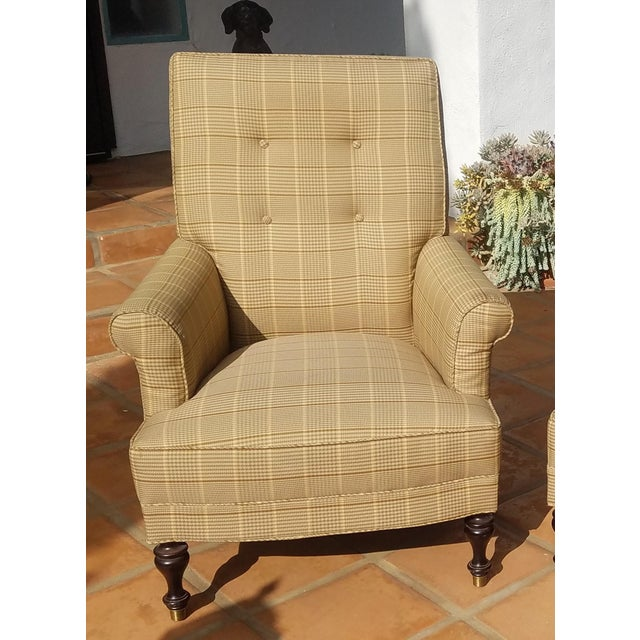 Traditional Club Chairs by Mitchel Gold - a Pair For Sale In San Diego - Image 6 of 11