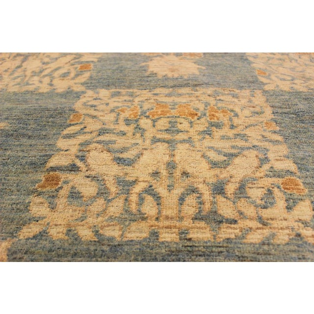 "Kafkaz Peshawar Sarina Blue & Gold Wool Rug - 12' x 17'4"" For Sale - Image 4 of 7"