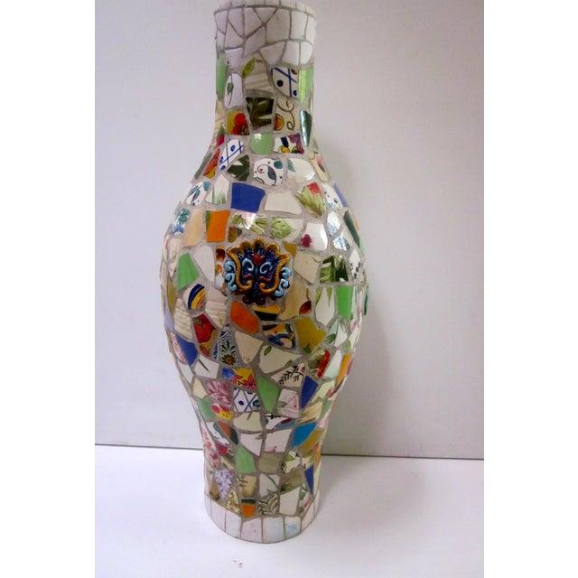 Large Handmade Mosaic Floor Vase Urn - Image 10 of 11