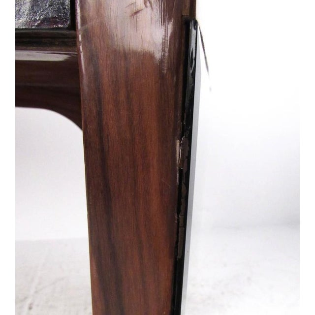 Italian Modern Writing Desk in Rosewood For Sale In New York - Image 6 of 10