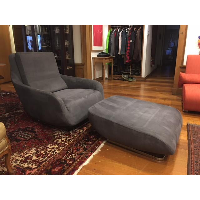 Ligne Roset Shaman Chair and Ottoman - A Pair - Image 5 of 5