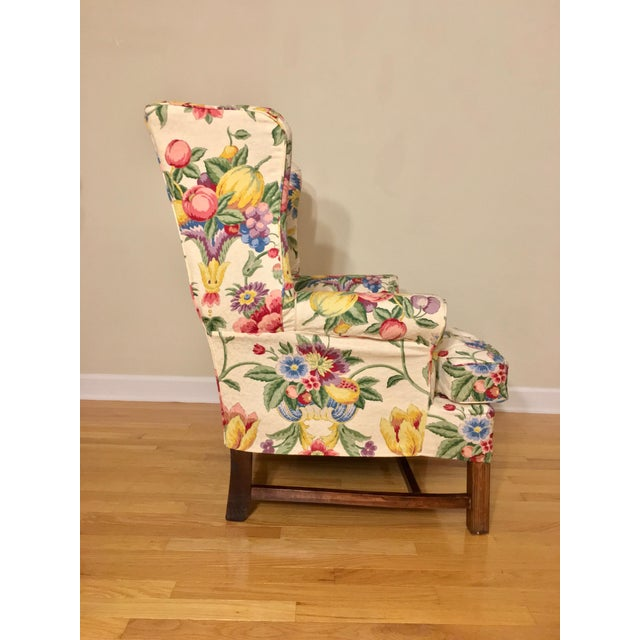 Wood Newly Upholstered Georgian Style Wingback Chairs - a Pair For Sale - Image 7 of 11
