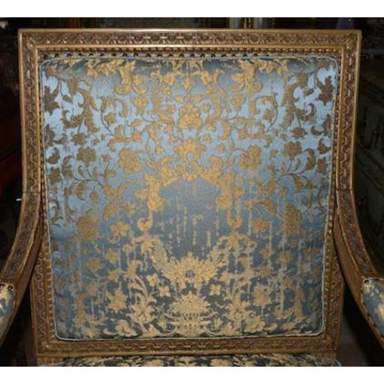 19th C. French Giltwood Armchairs For Sale - Image 4 of 5