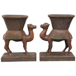 Superb Anglo-Indian Camel Form Jardinières - a Pair For Sale