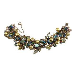 Juliana Bracelet Dangle Balls & Crystals Iridescent Rhinestones For Sale