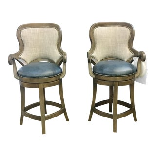 Modern Fairfield Swivel Barstools- A Pair For Sale