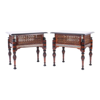 Inlaid Syrian Tables - A Pair For Sale