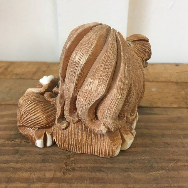 Mid-Century Clay Lion Sculpture - Image 3 of 10