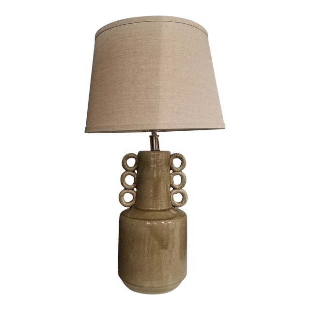 Taupe Cone Sea Circus Lamp With Shade For Sale