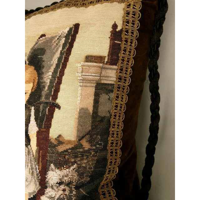 Glass c.1880 The Best Antique English Folk Art Hand-Beaded Pillow Ever For Sale - Image 7 of 10