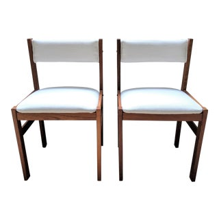 Mid Century Modern Teak Chairs- A Pair For Sale
