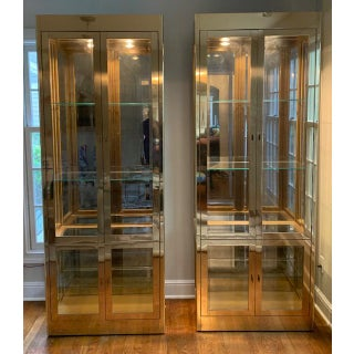 1970s Mastercraft Brass Vitrines/Cabinets-A Pair Preview
