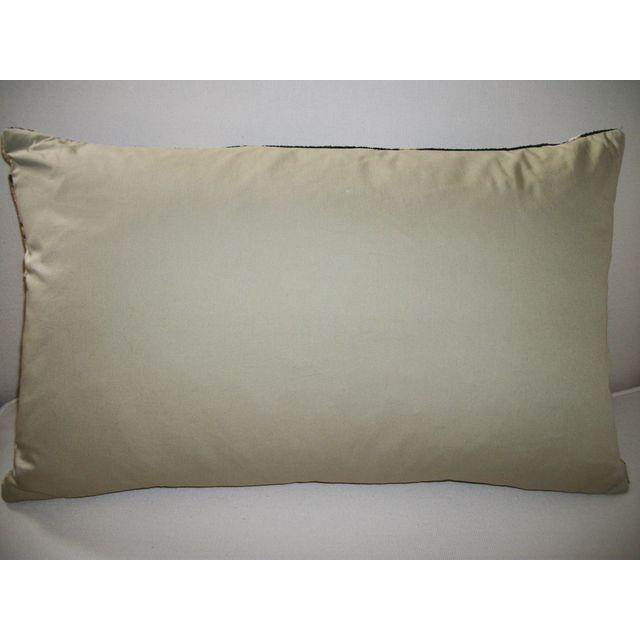 Vintage Silk Velvet Accent Pillow - Image 2 of 2