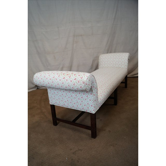 Chippendale Antique Mahogany Chippendale 6 Leg Window Bench For Sale - Image 3 of 10
