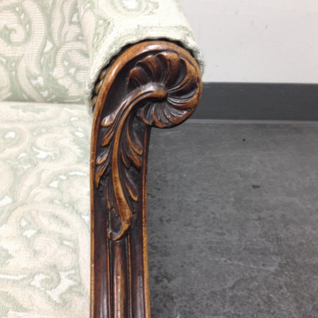 Mahogany Armchair With Nail Heads - Image 6 of 8