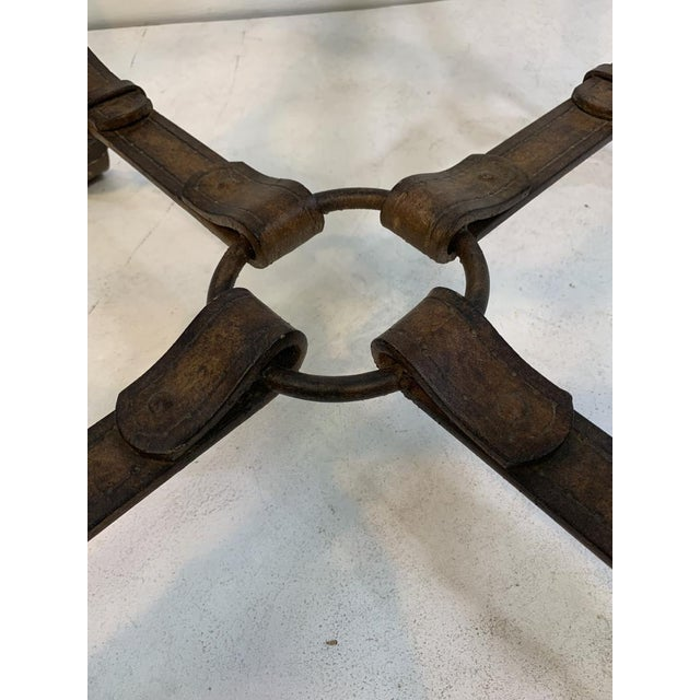 Hermes Equestrian Iron Strap Side Table For Sale - Image 10 of 13