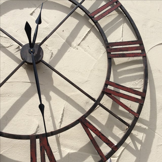 Large Metal Wall Clock - Image 4 of 5