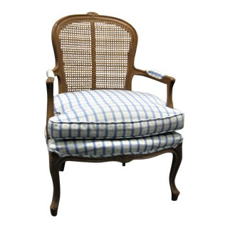 Modern Century Cane Back Arm Chair For Sale