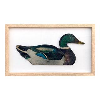 Framed Vintage Paper Duck Decoy For Sale