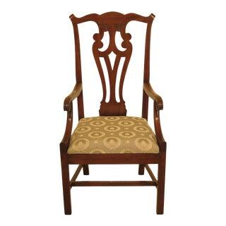 1970s Vintage Kittinger Historic Newport Mahogany High Back Chair For Sale