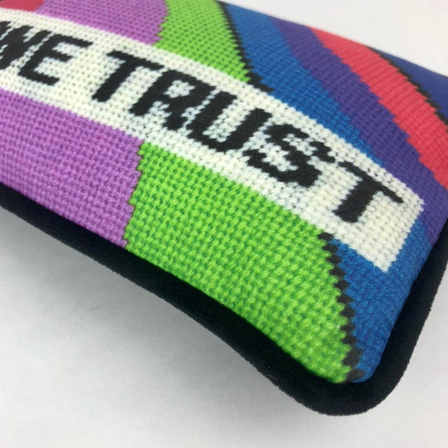 """""""In Mod We Trust"""" Pillow For Sale - Image 4 of 9"""
