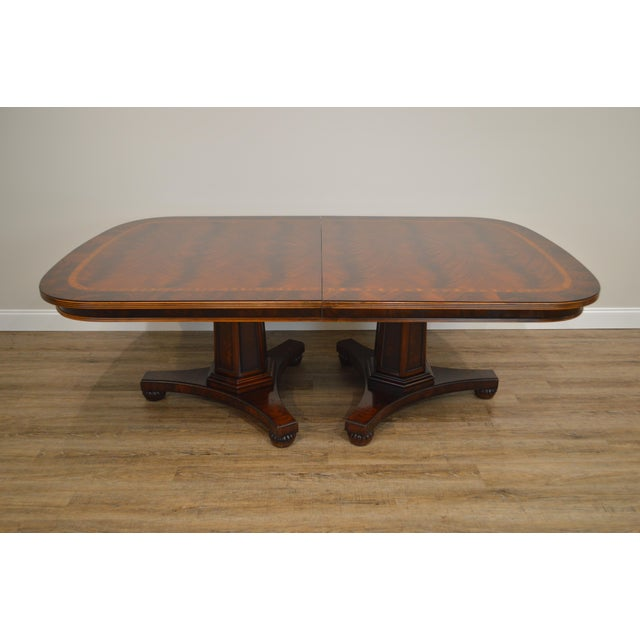 Henredon Historic Natchez Collection Flame Mahogany Regency Dining Table For Sale In Philadelphia - Image 6 of 12