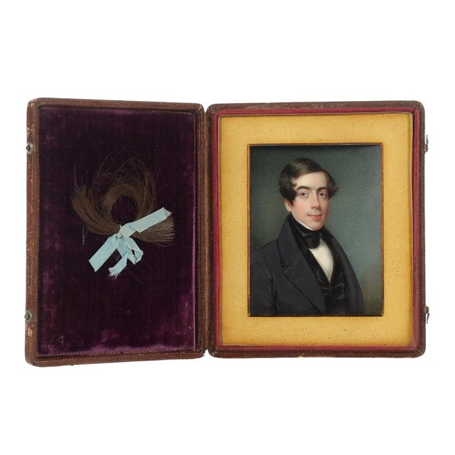 Offered is a miniature portrait of a gentleman in black coat by Henry Colton Shumway, circa 1830. Original rare identified...