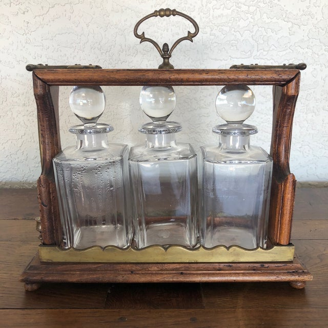 Antique English Oak Decanter Tantalus For Sale - Image 11 of 11