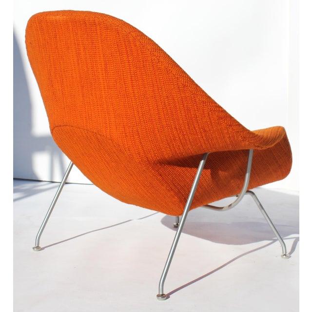 Metal Eero Saarinen Womb Chair With Original Upholstery and Steel Frame For Sale - Image 7 of 12