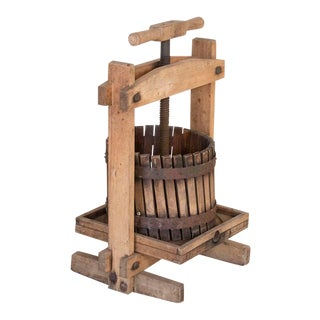 Antique Wooden Wine Press For Sale