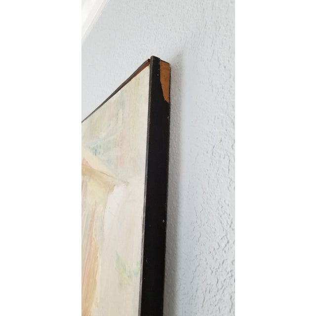 1970's John Purcell Abstract Still Life Oil on Canvas Painting, Framed For Sale - Image 9 of 12