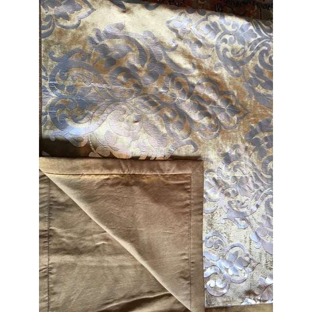 Gold and Silver Foiled King Sized Blanket, Sham, and Accent Pillow Cover - Set of 3 - Image 3 of 5
