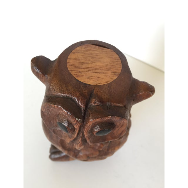 Vintage Owl Whistle, Hand Carved Wood For Sale In San Francisco - Image 6 of 8