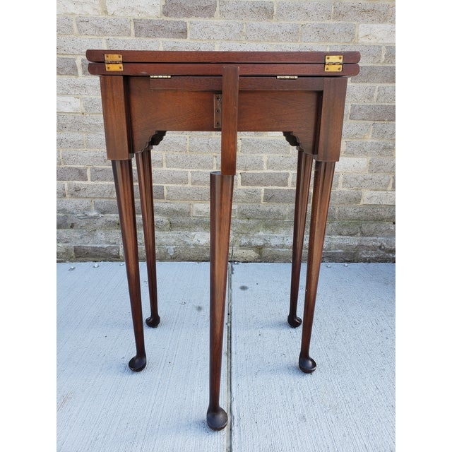 1920s Antique French Mahagony Petite Games Table For Sale - Image 5 of 13