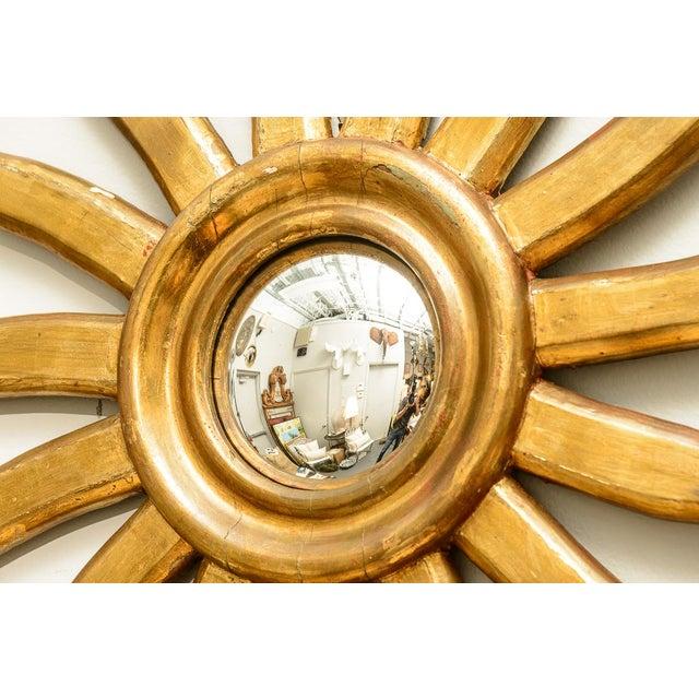 Gold Italian Gilt Wood Sunburst Mirror With Convex For Image 8 Of 13